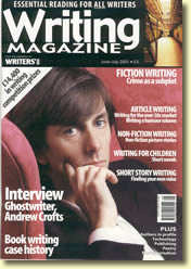 cover - Writing Magazine with picture of Andrew Crofts
